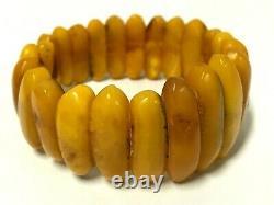 Old Vintage Natural BALTIC AMBER BRACELET Egg Yolk Butterscotch Beads 28,2g 7095
