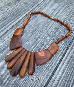 Old Vintage Natural Baltic Amber Butterscotch Honey Beads BIB Necklace