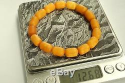 Old natural Baltic amber yellow bracelet 12 g. No import customs tax worldwide