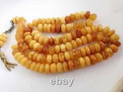 Original Antique Natural Baltic Amber Islamic 101 Prayer Beads 36 Grams Rosary