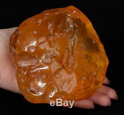 Polished Natural Baltic AMBER Stone rough raw 469 gr #2102P YOLK BUTTERSCOTCH