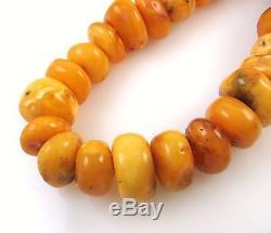RARE Huge Antique Natural Genuine Baltic Butterscotch Amber Necklace 206g J IX