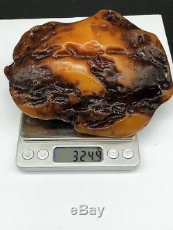 Raw Amber Stone 324 Gr