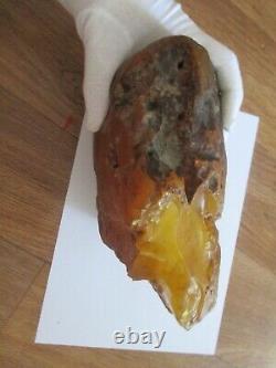 Raw Amber Stone rock 1.990 kg pendant 100% natural Baltic kahrab kahrman misbah