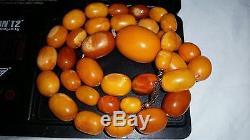 Raw Bernsteinkette Amber Necklace 41,9 Gr. Butterscotch Baltic Natur Bernstein