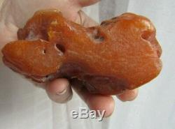 Raw Old Natural Amber Stone Bernstein Baltic Sea Rock Rendant 196g