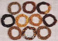Raw Unpolished Natural Baltic Amber Baby Necklace Lot 50 Various Colors