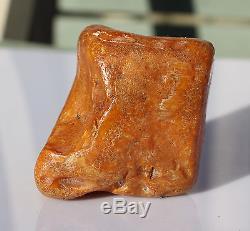 Raw amber old stone rough 81.8g natural Baltic beeswax DIY