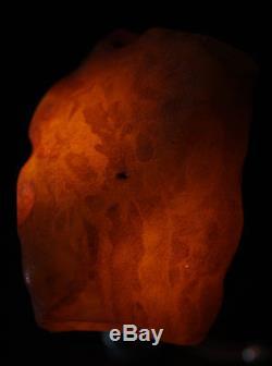 Raw amber stone 207.3g bees wax eggyolk 100% natural Baltic