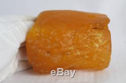 Raw amber stone 336.2g eggyolk beeswax 100% natural Baltic