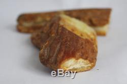 Raw amber stone 341.1g butterscotch white 100% natural Baltic