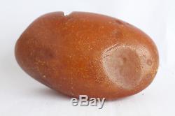 Raw amber stone 342.2g eggyolk beeswax 100% natural Baltic
