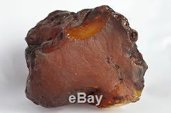 Raw amber stone 352.3g big bead shape natural Baltic DIY