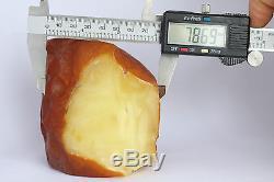 Raw amber stone 449.7g wax butterscotch 100% natural Baltic