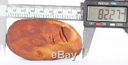 Raw amber stone 62.7g pendant full leather natural Baltic DIY