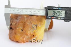 Raw amber stone 622.4g eggyolk beeswax 100% natural Baltic
