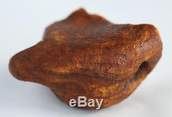 Raw amber stone 66.1g pendant WHITE natural Baltic DIY