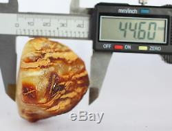 Raw amber stone 68.0g bead white pendant natural Baltic DIY