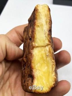 Raw amber stone rock 100 gr bernstein natural Baltic