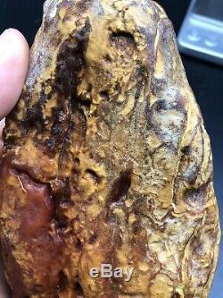 Raw amber stone rock 183 g pendant 100% natural Baltic