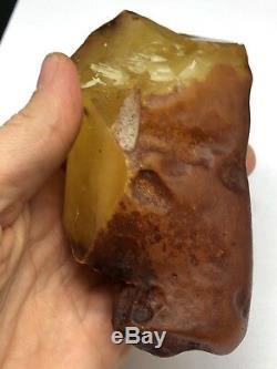 Raw amber stone rock 198 gr bernstein natural Baltic