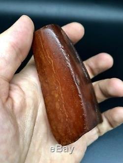 Raw amber stone rock 85 g eggyolk beeswax 100% natural Baltic