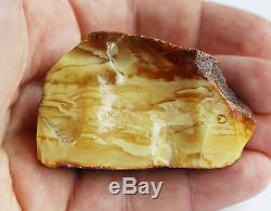 Raw amber white stone rough 39.3g natural Baltic beeswax DIY
