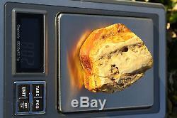 Raw amber white stone rough 80.2g natural Baltic beeswax DIY