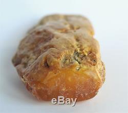 Raw amber yellow white stone beeswax 78.8g natural Baltic DIY