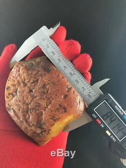 Raw natural baltic amber 162gram egg yolk kahrab kahrman misbah pendant bead