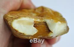 Raw old amber white pendant stone 62.5g natural Baltic DIY