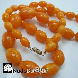 Real 100% Genuine Antique Natural Baltic Amber Even Color Necklace 76 Gr Tested