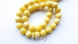 Royal White Natural baltic amber rosary prayer 33 bead Tesbih