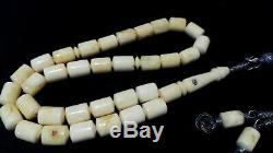 Royal White Tiger Natural Drop Baltic Old Amber Handmade Raw Single Stone Seccar