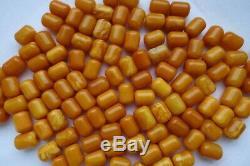 SUPER RARE Baltic Amber Natural Beads Butterscotch EGG YOLK 71 gram