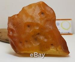 Stone Amber Natural Baltic Raw Huge Big 227,3g Old Vintage Old Rare White X-057