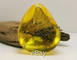 Stone Natural Baltic Amber 40,9g Egg Yolk White Huge Big Rare Vintage B-093