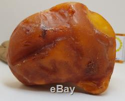 Stone Natural Baltic Amber Raw 323,5g Vintage Butterscotch Rare Exlusive White