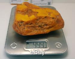 Stone Natural Baltic Amber Raw 994g Vintage Butterscotch Rare Exlusive White