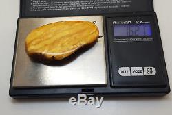 Stone Pendant Nr186 Vintage Tasbih Bead Natural Amber Baltic Genuine Old 16,2g
