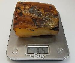 Stone Raw Amber Natural Baltic White Butterscotch Vintage Sea 705,1g Rare A-273