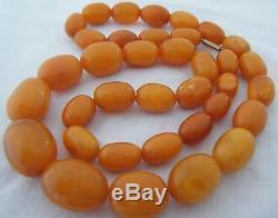Super 100% Natural Antique C1900s Baltic Butterscotch & Egg Yolk Amber Necklace