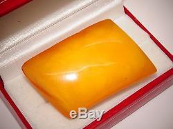 #(U114) Antique Vintage Natural Baltic Egg Yolk Butterscotch Amber Brooch