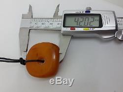 Unique Antique Natural Baltic Sea Amber Butterscotch/Egg Yolk donut 26.18 g