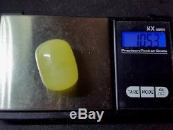 Unique Natural Baltic Sea Amber Yellow Marble Barrel Pendant 10,53 gr