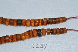 VINTAGE Antique NATURAL HUGE! BIG BALTIC AMBER! COGNAC HONEY Bead necklace EGG