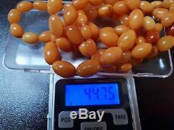 VINTAGE NATURAL BALTIC AMBER BEADS REAL GENUINE OLD AMBER 44 grams! , No. 44