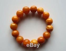 Very High Quality Natural Butterscotch Egg Yolk Baltic Amber Beads Bracelet