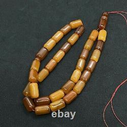 Very OLD Egg yolk EXCELLENT ANTIQUE 48.3Gr Amber Rosary Islamic Prayer Beads33