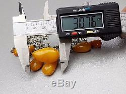 Vintage 20.10 gr. Natural Butterscotch Egg Yolk BALTIC AMBER NECKLACE